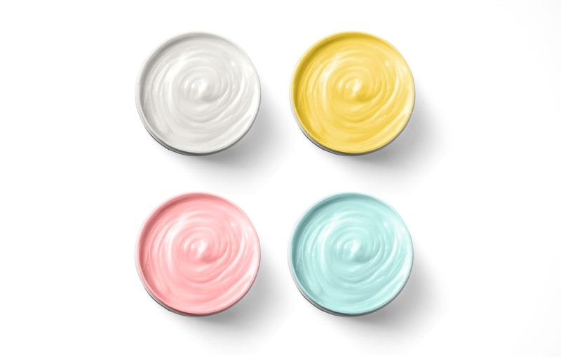 slika krema razlicitih boja